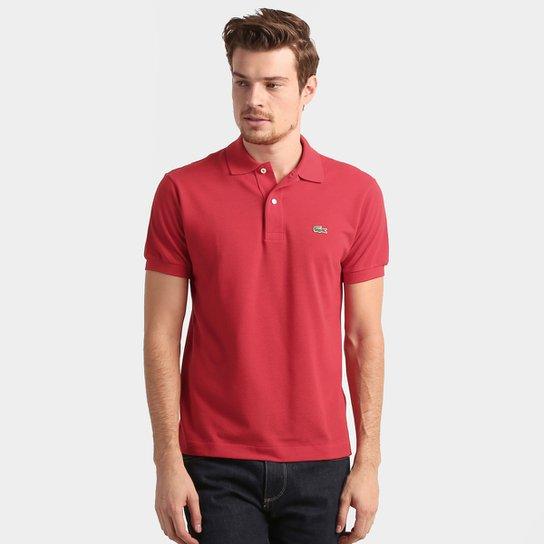 9947c5cd961 Camisa Polo Lacoste Original Fit Masculina - Vermelho - Compre Agora ...