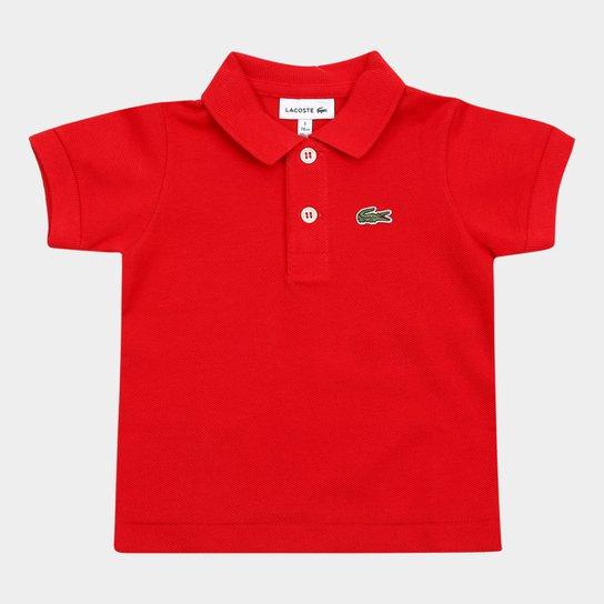 125dd33075bc9 Camisa Polo Infantil Lacoste Masculina - Vermelho - Compre Agora ...