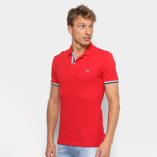 65413048bc454 Camisa Polo Lacoste Piquet Slim Fit Masculina - Compre Agora   Netshoes
