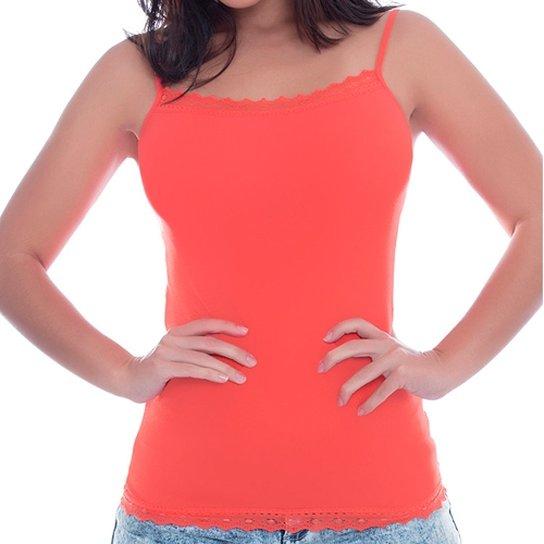 66cc94a9f19ae3 Blusa Lupo Trend Alcinha com Renda - Vermelho