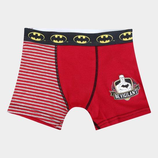 241ee81c8 Cueca Infantil Lupo Boxer Estampa Listras Batman - Vermelho - Compre ...