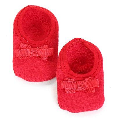 Meia Infantil Lupo Baby Antiderrapante Sapatilha Laço