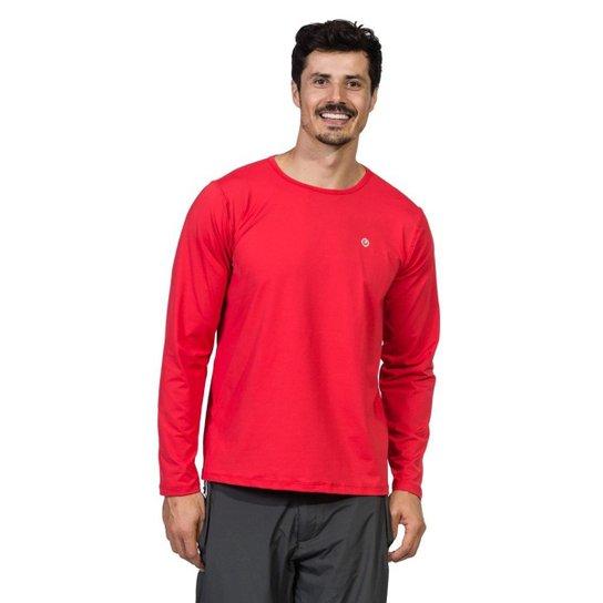 f2df94b6e7 Camiseta com Proteção Solar FPU50+ Manga Longa Extreme UV Ice - Vermelho