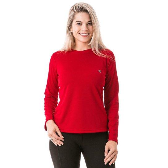 cf60a3c5d4 Camiseta com Proteção Solar Manga Longa Extreme UV Dry - Vermelho ...