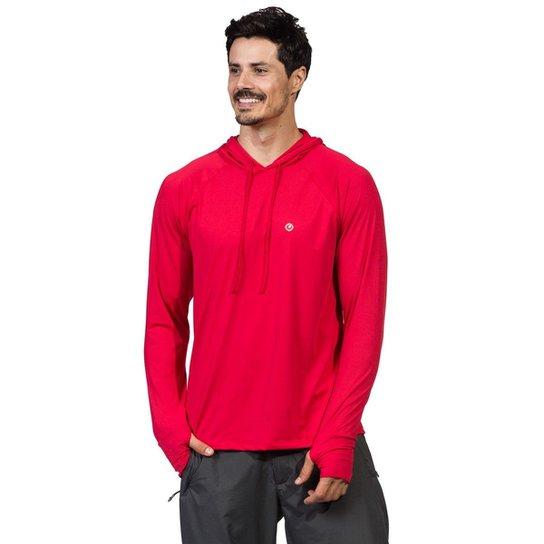 028880f5fc Camiseta c  Capuz e Encaixe para Dedo Extreme UV Ice - Vermelho ...