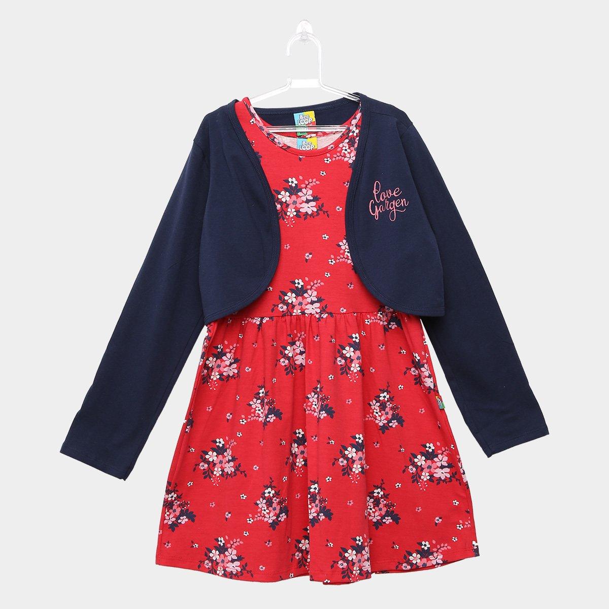 0b68ca792a Vestido Infantil Bee Loop Estampa Floral Bolero