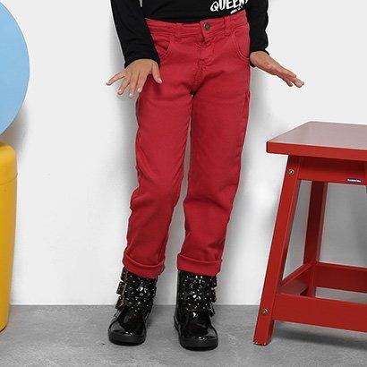 Calça de Sarja Infantil Quimby Feminina