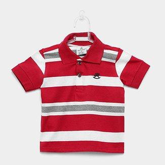 cf6e9fe0e Camisa Polo Infantil Up Baby Malha Listrada Masculina