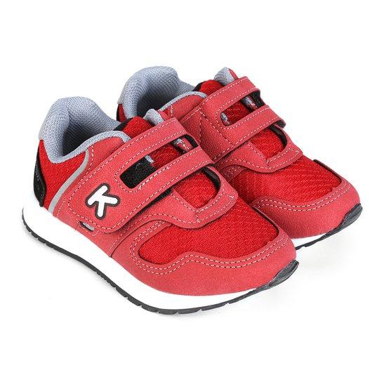 Tênis Infantil Klin Baby Walk Masculino - Vermelho - Compre Agora ... 1cd8331875a4a