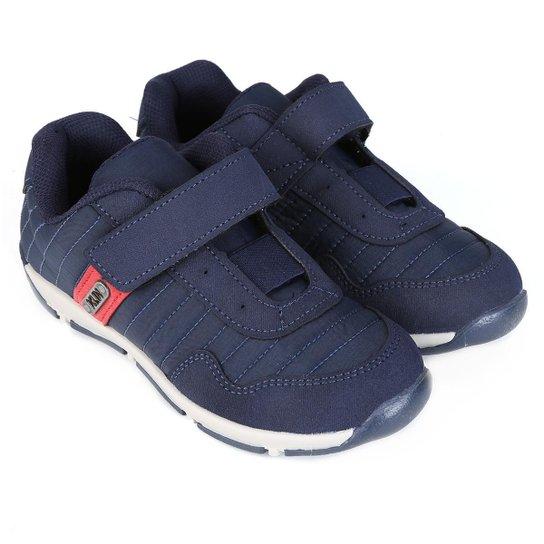 Tênis Infantil Klin Outdoor Velcro - Marinho e Vermelho - Compre ... c4b5cbb3a2feb
