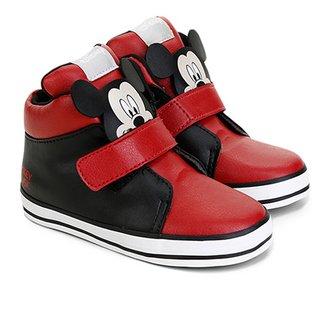 be2512d07da Tênis Cano Alto Infantil Disney Velcro Mickey