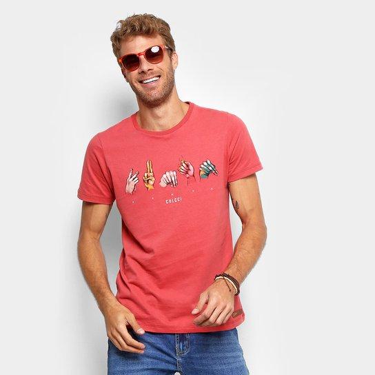 bcf313aa2 Camiseta Colcci Human Masculina - Vermelho