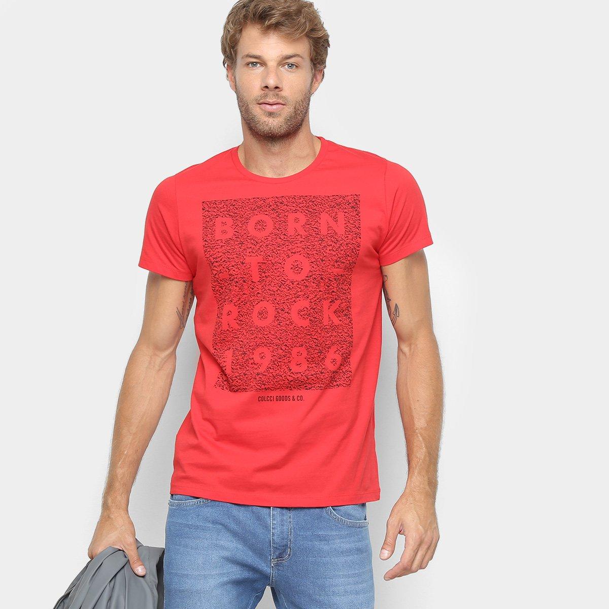 92c527e50 Camiseta Colcci Estampa Born To Be Rock Masculina - Shopping TudoAzul