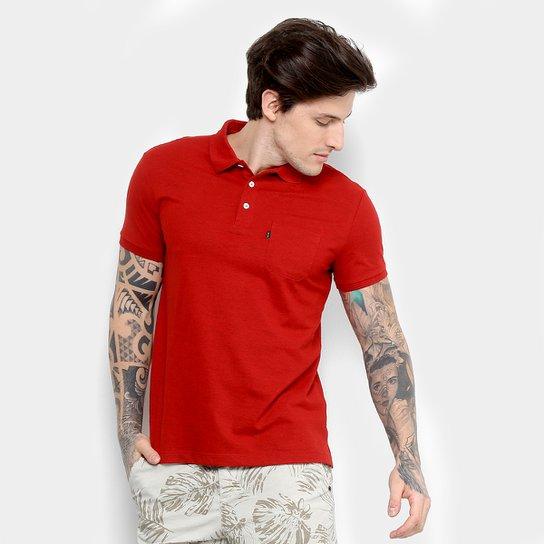 Camisa Polo em Piquet Ellus Manga Curta Masculina - Vermelho ... cb04b89a0e7ae