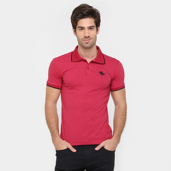 77d37c1f29dea Camisa Polo RG 518 Malha Friso Logo Masculina - Vermelho - Compre ...