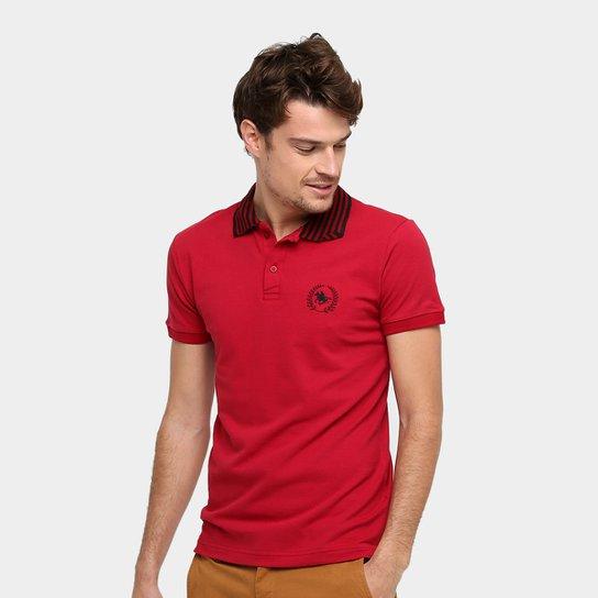 Camisa Polo RG 518 Piquet Bordada Masculina - Vermelho - Compre ... 4e5461778ea3a