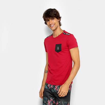 Camiseta RG 518 Meia Malha Bolso Masculina