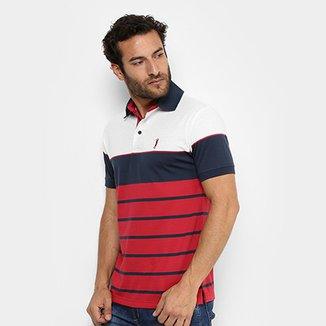 c964dd991a Camisa Polo Aleatory Fio Tinto Listrada Masculina