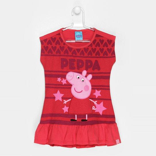 bbfbe6eed Vestido Malwee Peppa Pig - Vermelho