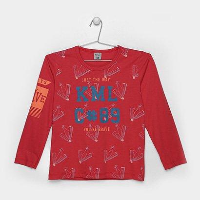 Camiseta Infantil Kamylus Estampada Masculina