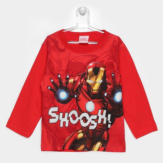 f196568bab Camiseta Brandili Marvel Homem De Ferro Infantil - Vermelho