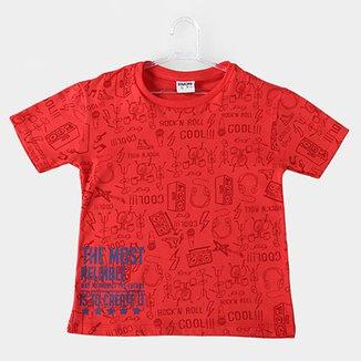 Camiseta Infantil Fakini Kids Rock n Roll Masculina 86cfe90404