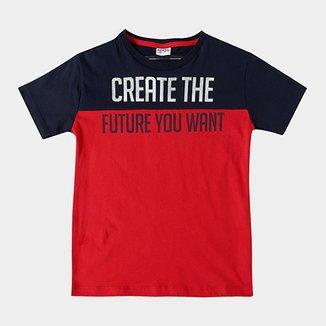 486fe2d302 Camiseta Infantil Fakini Kids Create The Future Masculina