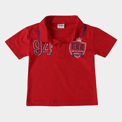 Camisa Polo Infantil Fakini FKN