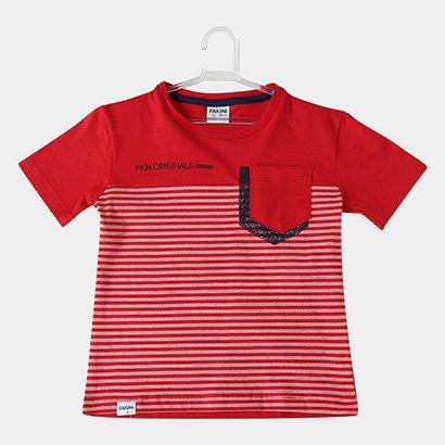 Camiseta Infantil Fakini Kids Listrada Bolso Masculina