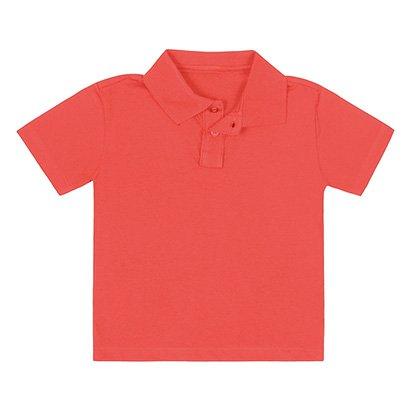Camisa Polo Infantil Fakini Básica Lisa Masculina