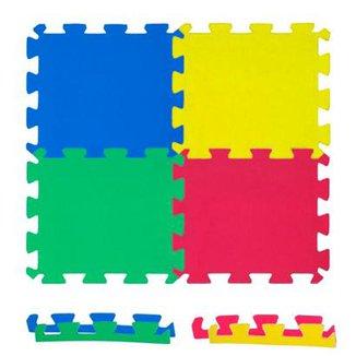 8e9934a0b2b Kit 14 Peças Tatame Eva Infantil 50 x 50 x 1 cm Várias Cores