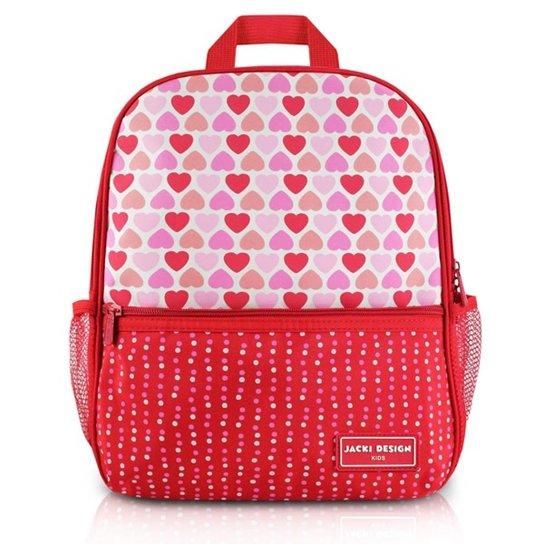 4109cffbd Mochila Infantil Escolar Jacki Design Coração Microfibra Feminina - Vermelho
