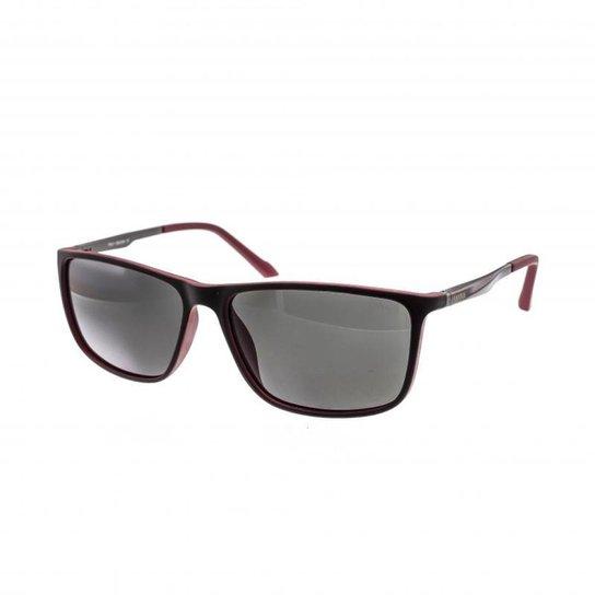 1beaa10b9 Óculos de Sol Cannes Lente Acrílico Polarizado Masculino - Vermelho ...