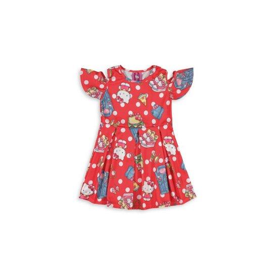 Vestido Infantil Hello Kitty Com Abertura nos Ombros - Compre Agora ... 6fee612b6b5