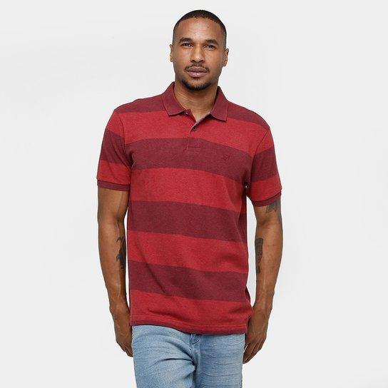 b4e5a1b29e Camisa Polo Richards Piquet Listras Masculina - Vermelho - Compre ...