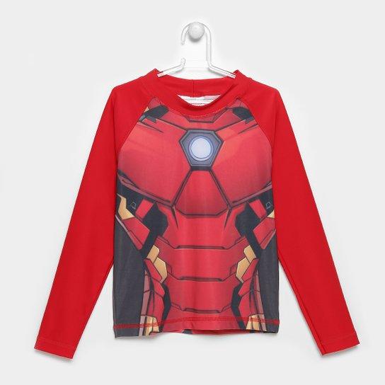 Camiseta Infantil Tip Top Avengers Proteção UV Masculina - Vermelho ... 590009d31e3