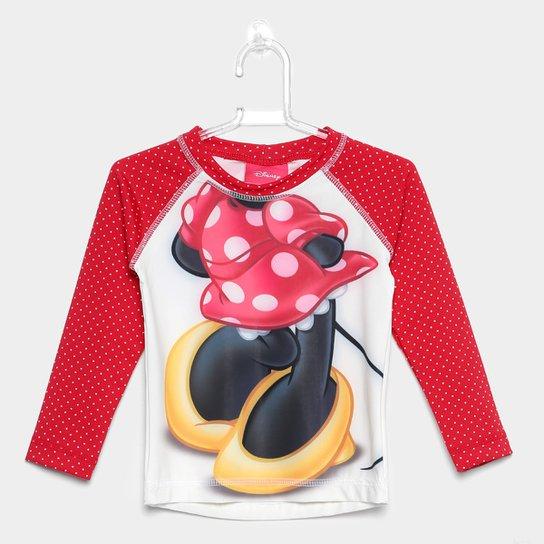 041a4dcada Camiseta Infantil Tip Top Manga Longa Minnie Menina - Vermelho ...