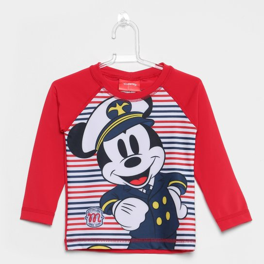 53953e10f0 Camiseta Infantil Tip Top Manga Longa Mickey Menino - Compre Agora ...