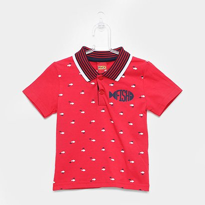 Camisa Polo Infantil Kyly Fish Masculina