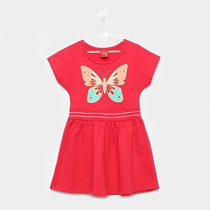 Vestido Infantil Kyly Moletinho Borboleta Gliter