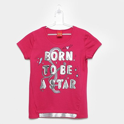 Blusa Infantil Kyly Star Paetê Feminina