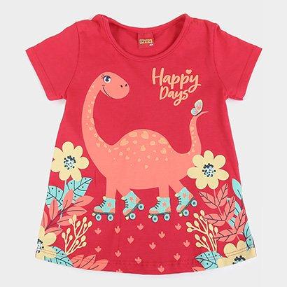 Blusa Infantil Kyly Dino Happy Days Feminina
