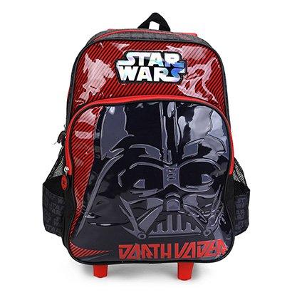Mochila Infantil Luxcel Star Wars Chewbacca Com Rodinhas