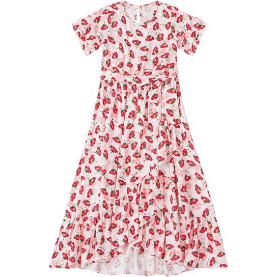a86841d57 Vestido Infantil Lilica Ripilica Cereja - Vermelho