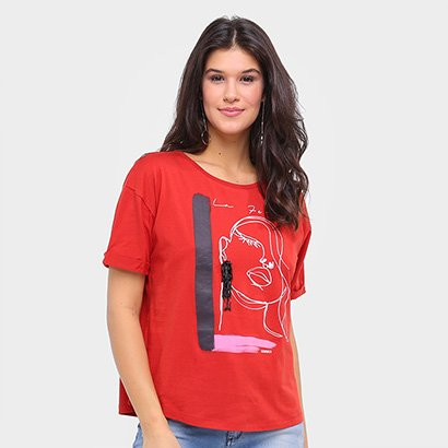 Camiseta Sommer Básica La Femme Feminina