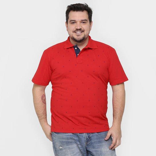 Camisa Polo Local Piquet Mini Print Âncora Plus Size - Compre Agora ... 9e2fde856108e