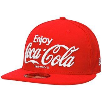 Boné New Era 5950 Enjoy Coca-Cola 4af4c7a74fd
