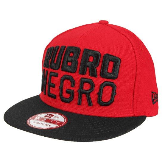Boné Flamengo New Era Rubro Negro 950 Aba Reta Masculino - Compre ... 853531178dd