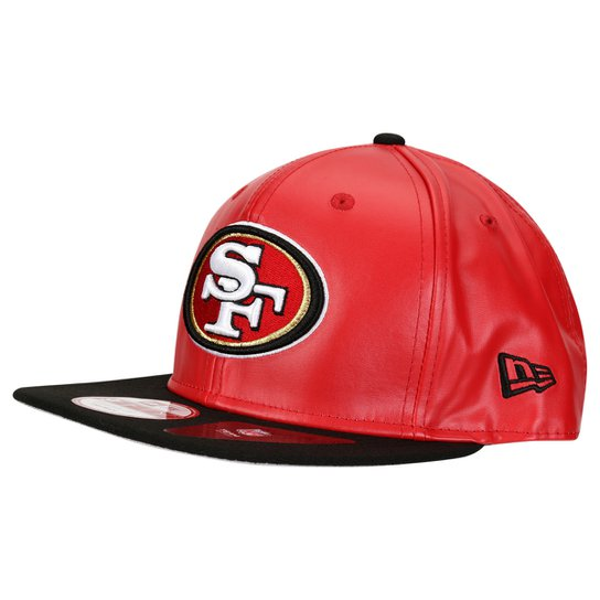 746ad5b6e9cf4 Boné New Era 950 NFL Original Fit Property San Francisco 49ers - Vermelho+ Preto