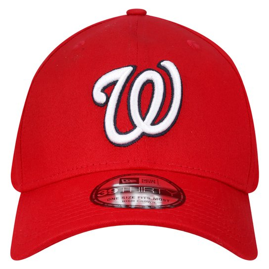 Boné New Era 3930 MLB Hc Basic Team Logo Washington Nationals - Vermelho b201f504490